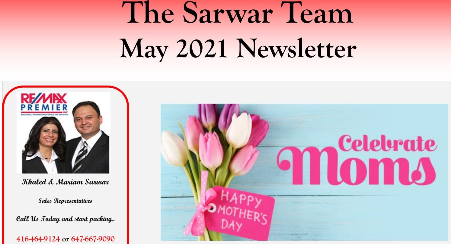 Sarwar Team May 2021 Newsletter