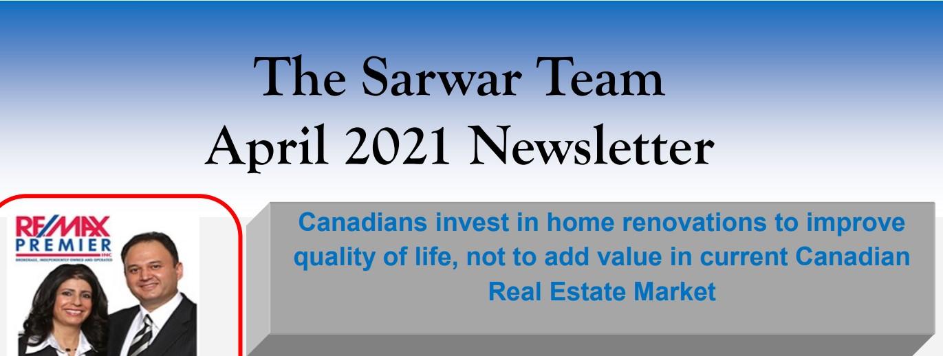Sarwar Team April 2021 Newsletter